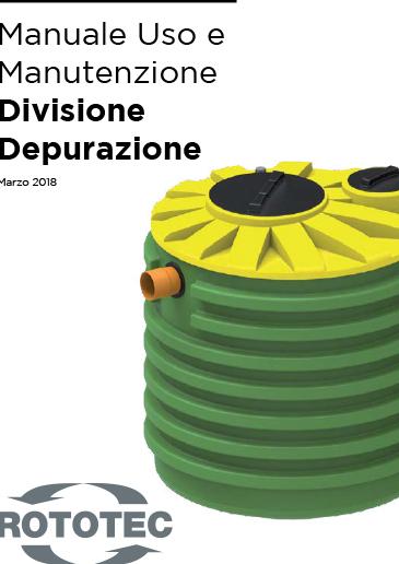 Manuale Uso e Manutenzione Prodotti Depurazione Rototec th